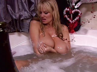 Naughty blonde Kelly Madison ravished by a fellow beyond everything a big verge